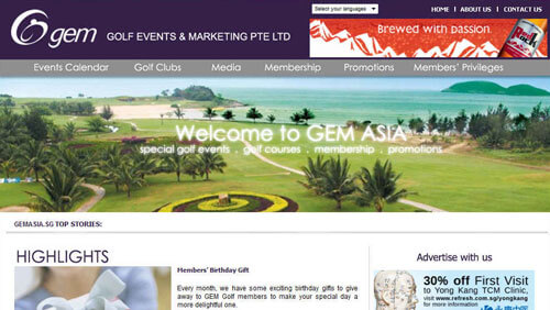 Golf Events and Marketing Pte Ltd